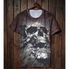 Мода Череп Печать шорты LangTuo Мужская (Цвет экрана) (2) #01279560